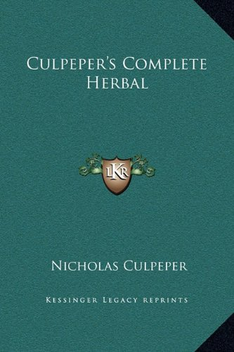 Culpeper's Complete Herbal  N/A 9781169331242 Front Cover