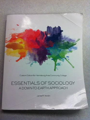 ESSENTIALS OF SOCIOLOGY(BLACK+WHITE ED) N/A edition cover