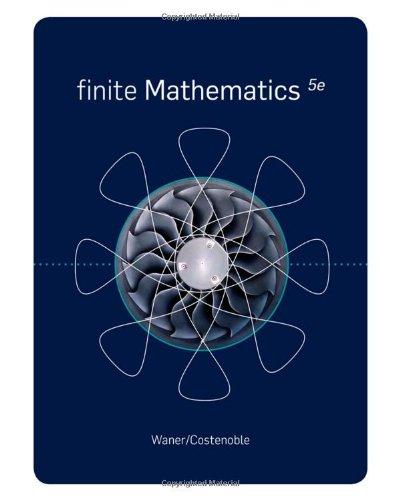 Finite Mathematics  5th 2011 edition cover