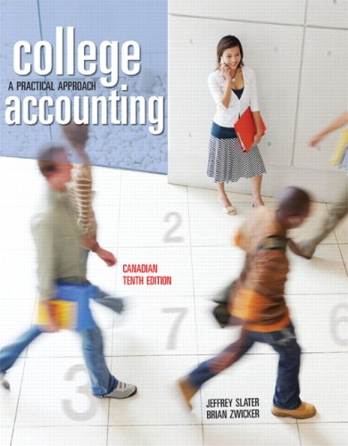 COLLEGE ACCT. >CANADIAN ED< 10th 2008 9780132069243 Front Cover