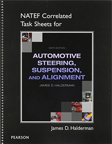 Natef Correlated Job Sheets for Auto Steering, Suspension, Alignment:   2013 edition cover