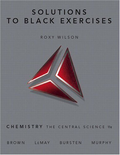 Solutions to Black Exercises  11th 2009 9780136003243 Front Cover