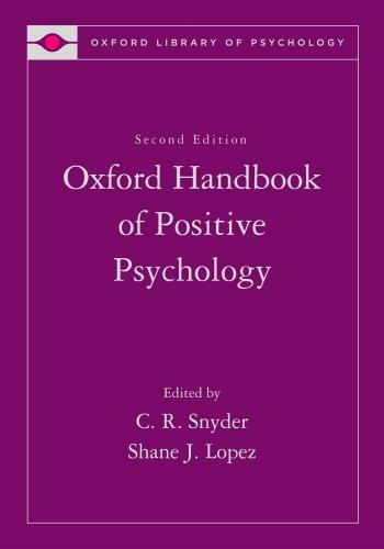 Oxford Handbook of Positive Psychology  2nd 2009 (Handbook (Instructor's)) edition cover