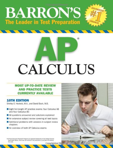 Barron's AP Calculus  10th 2010 (Revised) edition cover