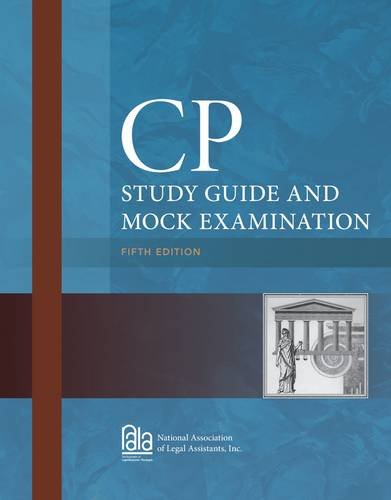 CP Study Guide and Mock Examination:   2013 edition cover