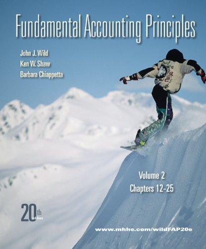 Fundamental Accounting Principles  20th 2011 edition cover