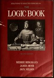 Logic Book  2nd 9780079095244 Front Cover