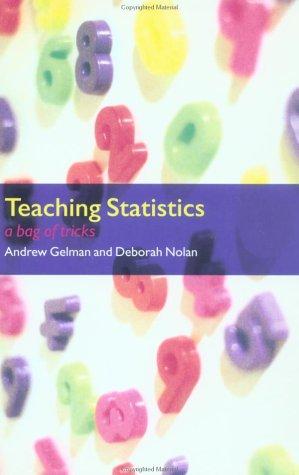 Teaching Statistics A Bag of Tricks  2002 edition cover
