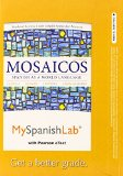 MySpanishLab with Pearson EText -- Access Card -- for Mosaicos (multi-Semester Access) 6th 2015 edition cover