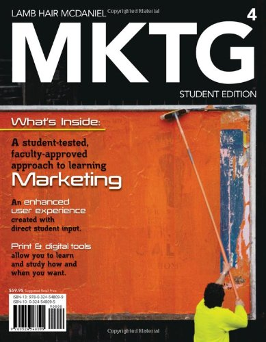 MKTG 2010  4th 2011 (Student Manual, Study Guide, etc.) 9780538468244 Front Cover
