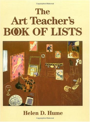 Art Teacher's Book of Lists  2nd 1997 (Revised) 9780787974244 Front Cover