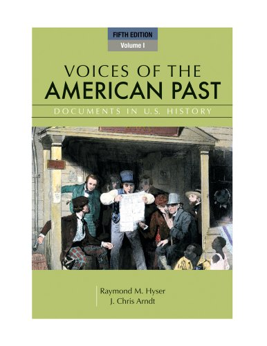 Voices of the American Past, Volume I  5th 2012 edition cover
