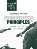 Accounting Principles, Working Papers  11th 2013 edition cover