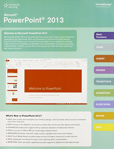Microsoft PowerPoint 2013 CourseNotes   2014 edition cover