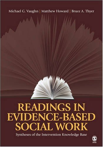 Readings in Evidence-Based Social Work Syntheses of the Intervention Knowledge Base  2009 9781412963244 Front Cover