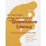 Student Solutions Manual for Quantitative Literacy  N/A edition cover