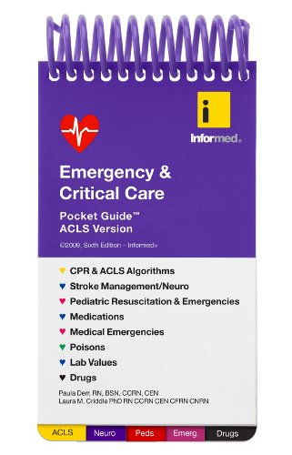 Emergency and Critical Care Pocket Guide:  2009 9781890495244 Front Cover