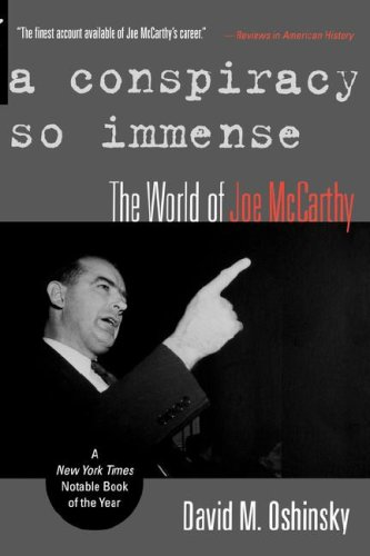 Conspiracy So Immense The World of Joe Mccarthy  2005 edition cover