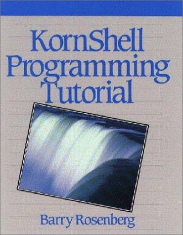 KornShell Programming Tutorial   1991 edition cover