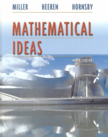 Mathematical Ideas  9th 2001 (Student Manual, Study Guide, etc.) 9780321043245 Front Cover