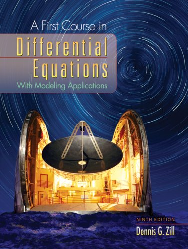 First Course in Differential Equations With Modeling Applications 9th 2009 edition cover