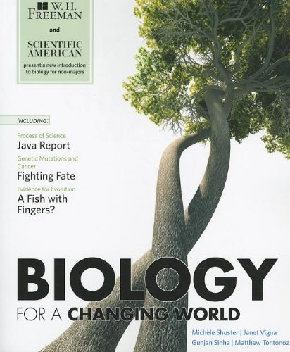 Scientific American Biology for a Changing World   2012 edition cover