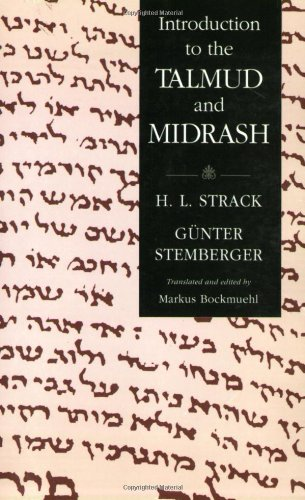 Introduction to the Talmud and Midrash  N/A edition cover