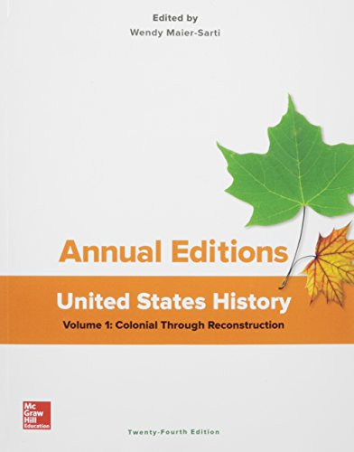 United States History: Colonial Through Reconstruction  2016 9781259657245 Front Cover