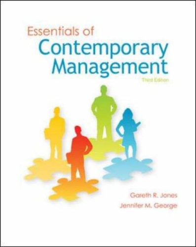 Essentials of Contemporary Management  3rd 2009 edition cover