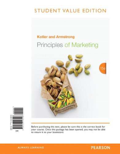 Principles of Marketing: Student Value Edition  2013 edition cover