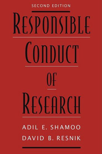 Responsible Conduct of Research  2nd 2009 edition cover