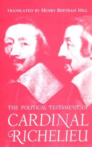 Political Testament of Cardinal Richelieu   1961 edition cover