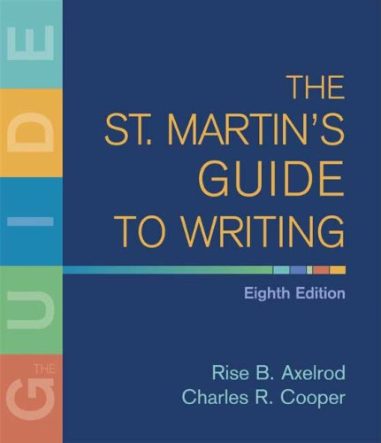 St. Martin's Guide to Writing  8th 2008 edition cover