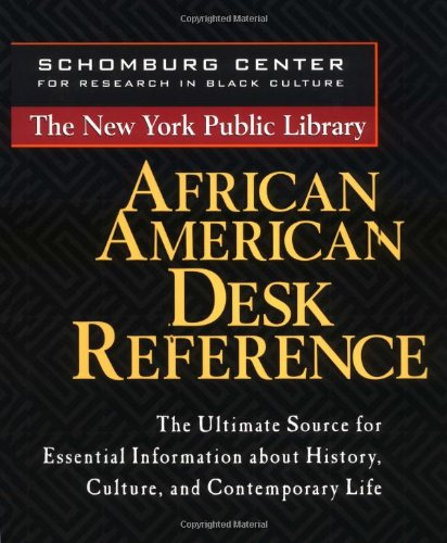 New York Public Library African American Desk Reference   1999 9780471239246 Front Cover