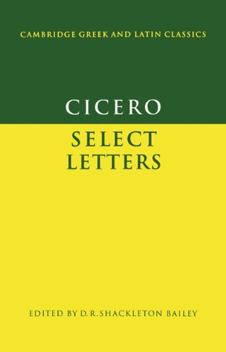 Cicero Select Letters  1980 9780521295246 Front Cover