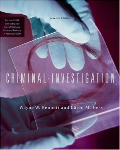 Criminal Investigation  7th 2004 edition cover