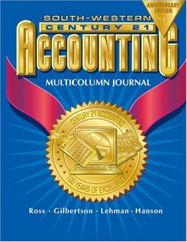 Century 21 Accounting Multicolumn Journal  7th 2003 (Revised) edition cover