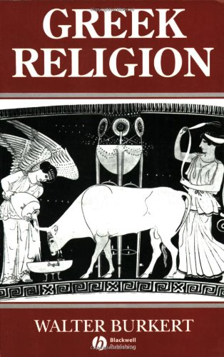 Greek Religion Archaic and Classical  1987 edition cover