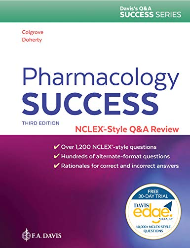 Cover art for Pharmacology Success: NCLEX-Style Q&A Review, 3rd Edition
