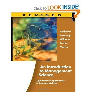 Introduction to Management Science, Revised (Book Only)   2012 9781111532246 Front Cover