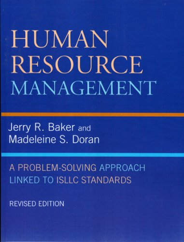 Human Resource Management A Problem-Solving Approach Linked to ISLLC Standards 2nd 2007 (Revised) edition cover