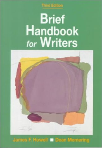 Brief Handbook for Writers  3rd 1993 (Revised) edition cover