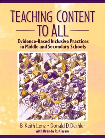 Teaching Content to All Evidence-Based Inclusive Practices in Middle and Secondary Schools  2004 edition cover