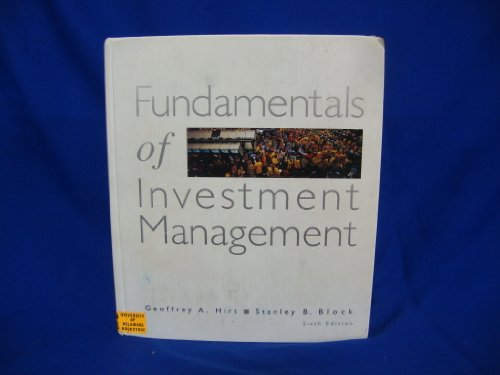 Fundamentals of Investment Management  6th 1999 9780256246247 Front Cover