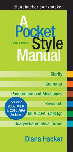 Pocket Style Manual 2009  5th 2009 (Revised) 9780312593247 Front Cover