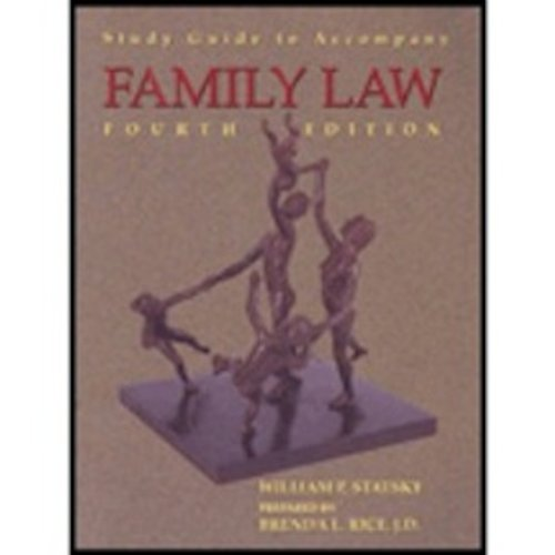 Family Law 4th (Student Manual, Study Guide, etc.) 9780314065247 Front Cover
