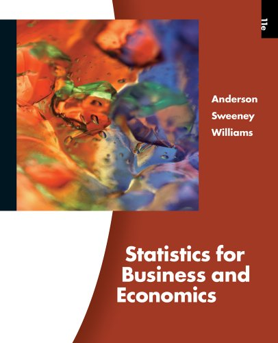 Statistics for Business and Economics  11th 2011 9780324783247 Front Cover