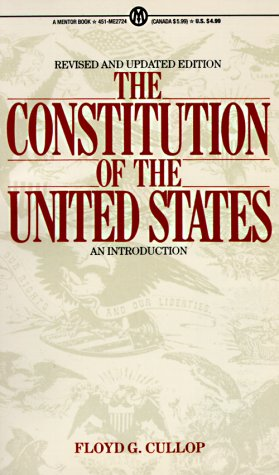 Constitution of the United States An Introduction  1999 (Revised) edition cover
