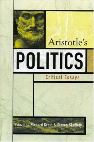 Aristotle's Politics   2005 9780742534247 Front Cover