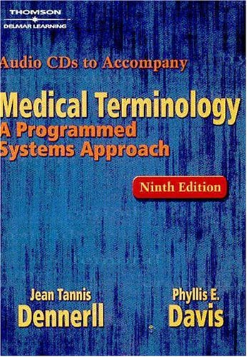 Medical Terminology A Programmed Systems Approach 9th 2005 9781401832247 Front Cover